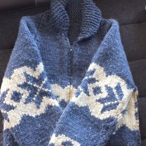 Vintage hand knit siwash sweater